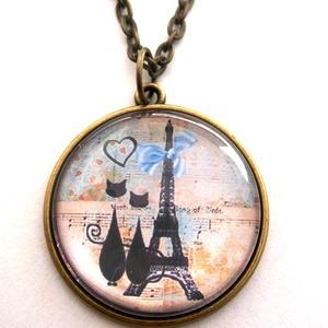 Macska Cica nyaklánc Macskás Cicás Fekete Fehér, Ékszer, Nyaklánc, Medálos nyaklánc,  A  macskák nagy kedvenceim, sok szeretetet adnak, ha szeretetet kapnak... Eiffel torony, Párizs, lé..., Meska