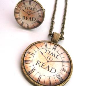 Könyv Könyvmoly Nyaklánc Könyves Gyűrű, Ékszer, Ékszerszett, A könyvek illata ihlette ezt a szettet... Az olvasás és a könyvek szerelmeseinek ajánlom ezt az egye..., Meska