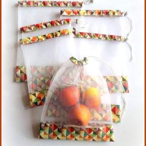 Tüll bevásárló zsák ÖKO zacskó 6 db kaleidoszkóp geometria minta, Táska & Tok, Bevásárlás & Shopper táska, Zöldség/Gyümölcs zsák, Varrás, Öko tüll zsákok bevásárláshoz, tároláshoz\n\nMŰANYAG ZACSKÓK HELYETT!\n\n6 db-os bevásárló zsákocskát ké..., Meska