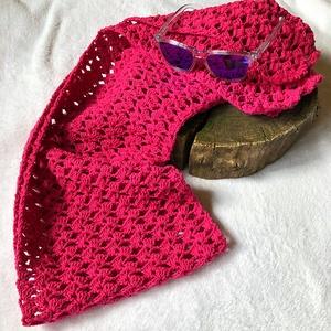 Pink sál, Táska, Divat & Szépség, Ruha, divat, Kendő, Horgolás, Alize cotton gold fonalból készült pink színű horgolt sál.\n\n\nSaját tervezésű és készítésű termék. \n\n..., Meska