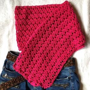 Pink sál  - ruha & divat - sál, sapka, kendő - sál - Meska.hu