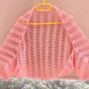 Rózsaszín boleró  - ruha & divat - női ruha - bolero - Meska.hu