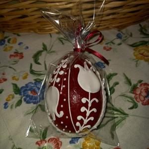 Térbeli húsvéti tojás kicsi, Otthon & Lakás, Dekoráció, Dísztárgy, Mézeskalácssütés, Mézeskalácsból készült húsvéti térbeli tojás. Kiváló húsvéti ajándék  mindenkinek, locsolkodóknak kü..., Meska