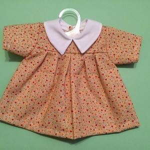 40-45 cm-es Játékbaba ruha ( narancs ), Gyerek & játék, Gyerekszoba, Játék, Baba játék, Varrás, Játékbaba ruha ( narancs ): anyaga pamutvászon, 40-45 cm-es játékbabára megfelelő, hátul tépőzárral ..., Meska