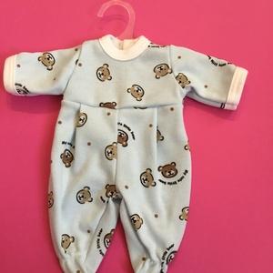 Játékbaba ruha ( macis ), Gyerek & játék, Játék, Baba játék, Varrás, Játékbaba ruha ( macis ) : 30-33 cm-es játékbaba rugdalózó, hátul tépőzárral záródik, anyaga pamut...., Meska