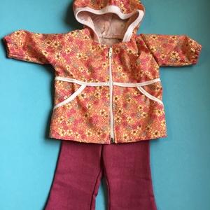 Játékbaba ruha ( cipzáros őszi kabát+nadrág )  , Gyerek & játék, Játék, Baba játék, Varrás, Játékbaba ruha ( cipzáros őszi kabát+nadrág ) : 43-46 cm játékbaba őszi cipzárral záródó kapucnis ka..., Meska