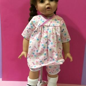 Játékbaba ruha ( szoknya+nadrág ), Gyerek & játék, Játék, Baba játék, Varrás, Játékbaba ruha ( szoknya+nadrág ): Puplin anyagból készült szoknya és nadrág, a szoknya hátul tépőzá..., Meska