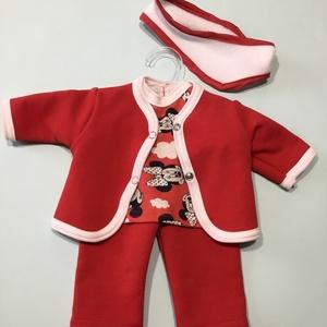 43-46 cm-es játékbaba ruha, háromrészes fejpánttal (Minnie egeres ), Gyerek & játék, Gyerekszoba, Játék, Baba játék, Varrás, Játékbaba ruha ( háromrészes fejpánttal ): 43-46 cm háromrészes játékbaba ruha fejpánttal. Anyaga pa..., Meska