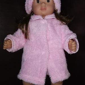 40-45 cm-es játékbaba kabát + sapka ( rózsaszín ), Játék & Gyerek, Baba & babaház, Babaruha, babakellék, Varrás, 40-45 cm játékbaba ruha, kabát + sapka. Patenttal záródik, anyaga wellsoft. A baba és a cipő nem tar..., Meska