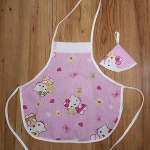 Gyerek kötény 2 részes ( Hello Kittys ), Játék & Gyerek, Szerepjáték, Varrás, 2 részes kis kötény 3-6 éves gyerekeknek. Anyaga: pamutvászon. 40 fokon mosógépben mosható, vasalhat..., Meska