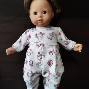 40-45 cm-es játékbaba rugdalózó ( táskás, csajos ), Játék & Gyerek, Baba & babaház, Babaruha, babakellék, Varrás, Játékbaba ruha ( táskás, csajos ) : 40-45 cm-es játékbaba rugdalózó, hátul tépőzárral záródik, anyag..., Meska