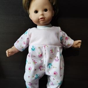 40-45 cm-es játékbaba ruha, rugdalózó ( rózsaszín, cicás ), Játék & Gyerek, Baba & babaház, Babaruha, babakellék, Varrás, Játékbaba ruha ( rózsaszín, cicás ) : 40-45 cm-es játékbaba rugdalózó, hátul tépőzárral záródik, any..., Meska
