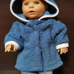 30-33 cm-es játékbaba ruha, kabát nadrág ( kék ), Játék & Gyerek, Baba & babaház, Babaruha, babakellék, Varrás, Játékbaba ruha: kabát, nadrág összeállítás\nA kabát puha wellsoft anyagból, a nadrág rugalmas plüssko..., Meska