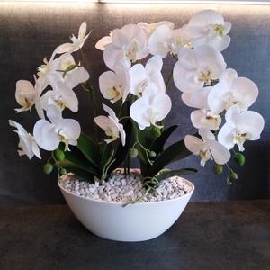 Real Touch Orchidea, Otthon & lakás, Lakberendezés, Kaspó, virágtartó, váza, korsó, cserép, Dekoráció, Dísz, Asztaldísz, Virágkötés, Dekorációs célra készült, a megszólalásig élethű orchidea, mely egy speciis anyagból készült. Tapint..., Meska