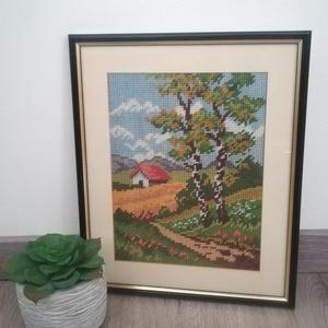 Tájkép  - művészet - textilkép - gobelin - Meska.hu
