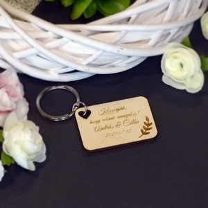 Köszönetajándék - Mintás- kulcstartó, Esküvő, Emlék & Ajándék, Köszönőajándék, Famegmunkálás, \nÁtlagos értékelés:Nem értékelt\nA tökéletes köszönetajándékot keresed vendégeidnek? \n\nKulcstartónk ..., Meska
