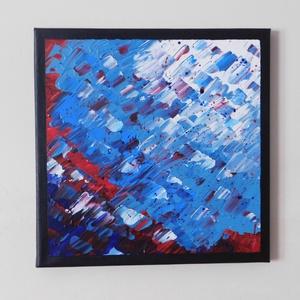 Absztrakt festmény 1., Művészet, Festmény, Akril, Festészet, Absztrakt festmény, amely akrilfestékkel, feszített vászonra készült. Mérete: 24 X 24 cm. A képnek f..., Meska