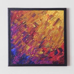 Absztrakt festmény 2., Művészet, Festmény, Akril, Festészet, Absztrakt festmény, amely akrilfestékkel, feszített vászonra készült. Mérete: 24 X 24 cm. A képnek f..., Meska