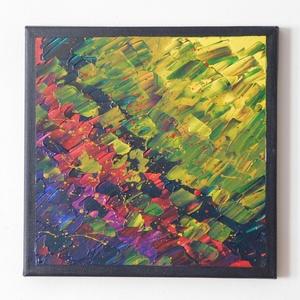 Absztrakt festmény 3., Művészet, Festmény, Akril, Festészet, Absztrakt festmény, amely akrilfestékkel, feszített vászonra készült. Mérete: 24 X 24 cm. A képnek f..., Meska