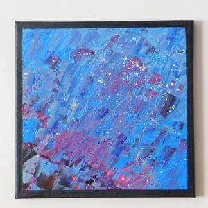 Absztrakt festmény 4., Művészet, Festmény, Akril, Festészet, Absztrakt festmény, amely akrilfestékkel, feszített vászonra készült. Mérete: 24 X 24 cm. A képnek f..., Meska