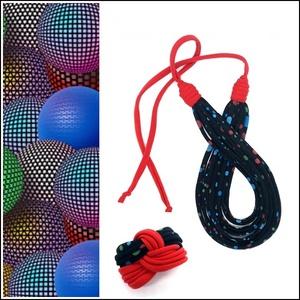 Fekete-színes pöttyös FIBER textilékszer szett, Ékszer, Ékszerszett, Ékszerkészítés, Újrahasznosított alapanyagból készült termékek, Az újrahasznosítással készített nyaklánc-karkötőből álló szett  alapanyaga színes  pöttyös  póló szo..., Meska
