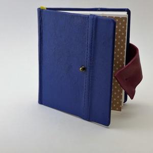 Raul - notesz, napló, emlékkönyv - kék bőr 16x16 cm  - 337, Otthon & Lakás, Jegyzetfüzet & Napló, Papír írószer, Könyvkötés, Papírművészet, Meska