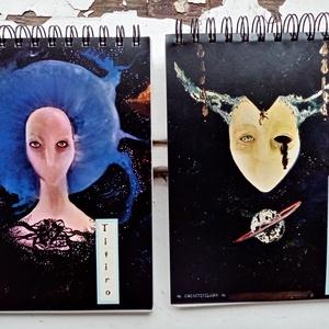 Titiro-Rajzfüzet, Egyéb, Otthon & lakás, NoWaste, Képzőművészet, Fotó, grafika, rajz, illusztráció, 100% újrahasznosított papírból készült rajzfüzetek. ♻️♻️♻️\nA5-ös méretű. \nSzínes, egyedi, felül spir..., Meska