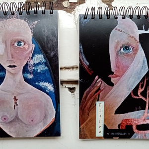 Titiro-Rajzfüzet, Egyéb, NoWaste, Otthon & lakás, Képzőművészet, Fotó, grafika, rajz, illusztráció, 100% újrahasznosított papírból készült rajzfüzetek. ♻️♻️♻️\nA5-ös méretű.\nSzínes, egyedi, felül spirá..., Meska