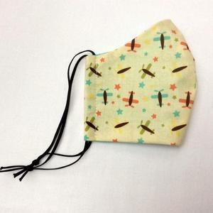 Egyedi szájmaszk - gyerek  repülős szájmaszk - textil szájmaszk - egészségügyi szájmaszk - mosható szájmaszk (Pindiart) - Meska.hu