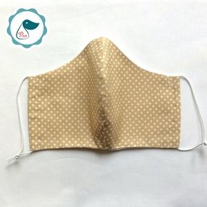Egyedi szájmaszk - pöttyös kiskamasz szájmaszk - textil szájmaszk - egészségügyi szájmaszk - mosható szájmaszk (Pindiart) - Meska.hu