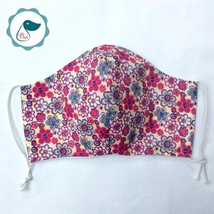 Egyedi szájmaszk - virágos felnőtt női és teenager szájmaszk - textil szájmaszk - egészségügyi szájmaszk - Meska.hu