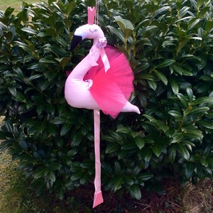 Flamingó - egyedi tervezésű kézműves játék - állat - textíljáték - kislány szobadekoráció (Pindiart) - Meska.hu