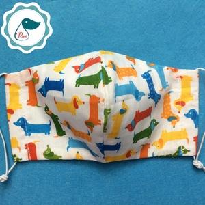 Egyedi szájmaszk - tacskó ,kutyás gyerek szájmaszk - textil szájmaszk - egészségügyi szájmaszk - mosható szájmaszk (Pindiart) - Meska.hu