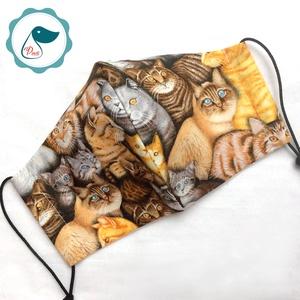 Egyedi szájmaszk -cicás kiskamasz szájmaszk - textil szájmaszk - egészségügyi szájmaszk - mosható szájmaszk (Pindiart) - Meska.hu