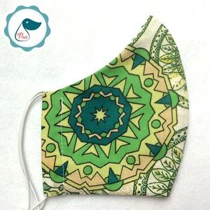 Maszk - egyedi mandalás szájmaszk - felnőtt női és teenager szájmaszk - textil szájmaszk - egészségügyi szájmaszk (Pindiart) - Meska.hu
