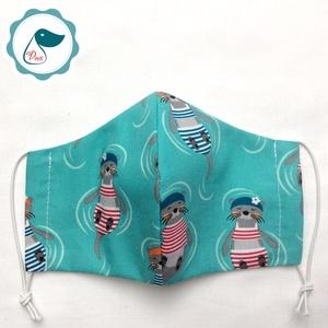 Egyedi szájmaszk - vidrás - gyerek szájmaszk - textil szájmaszk - egészségügyi szájmaszk - mosható szájmaszk (Pindiart) - Meska.hu