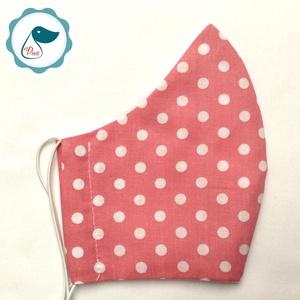 Egyedi szájmaszk -mályva pöttyös felnőtt női és teenager szájmaszk - textil szájmaszk - egészségügyi szájmaszk (Pindiart) - Meska.hu
