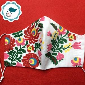 Népi motívum mintás arcmaszk - felnőtt női és teenager maszk - textil szájmaszk - egészségügyi szájmaszk (Pindiart) - Meska.hu