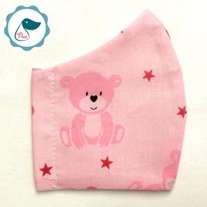 AKCIÓ - Egyedi szájmaszk - macis gyerek szájmaszk - textil szájmaszk - egészségügyi szájmaszk, Gyerek & játék, Baba-mama kellék, Táska, Divat & Szépség, Szépség(ápolás), Maszk, szájmaszk, Baba-és bábkészítés, Varrás, Egyedi, mintás, mosható egészségügyi gyerek szájmaszk 3-6 éves korig.\n\nA szájmaszk különlegessége, h..., Meska