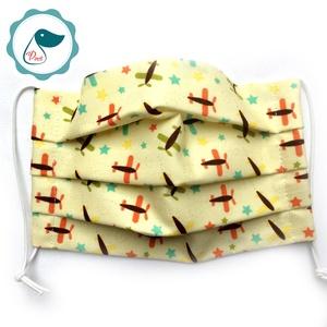 Egyedi szájmaszk -repülős gyerek- kiskamasz szájmaszk - textil szájmaszk - egészségügyi szájmaszk (Pindiart) - Meska.hu
