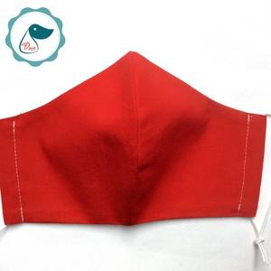 Egyedi szájmaszk - piros felnőtt női és teenager szájmaszk - textil szájmaszk - egészségügyi szájmaszk (Pindiart) - Meska.hu