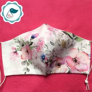 Egyedi szájmaszk - virág - felnőtt női és teenager szájmaszk - textil szájmaszk - egészségügyi szájmaszk (Pindiart) - Meska.hu