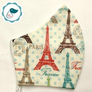 Egyedi Paris mintás kiskamasz - textil arcmaszk - egészségügyi maszk - mosható szájmaszk, Maszk, Arcmaszk, Női, Baba-és bábkészítés, Varrás, Egyedi, mintás, mosható, egészségügyi kiskamasz méretű szájmaszk 7-12 éves korig.\n\nA szájmaszk külön..., Meska