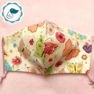 Egyedi pillangó mintás - kiskamasz szájmaszk - textil szájmaszk - egészségügyi szájmaszk - mosható szájmaszk (Pindiart) - Meska.hu