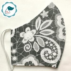 Egyedi csipke hatású pamut maszk  - felnőtt női és teenager arcmaszk - textil szájmaszk - egészségügyi szájmaszk (Pindiart) - Meska.hu