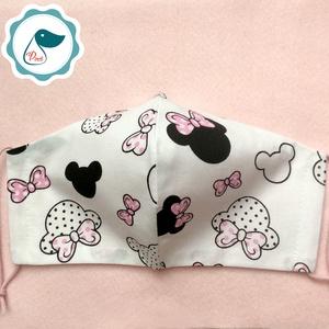 Egyedi maszk -mikiegér mintás gyerek arcmaszk - textil szájmaszk - egészségügyi szájmaszk (Pindiart) - Meska.hu