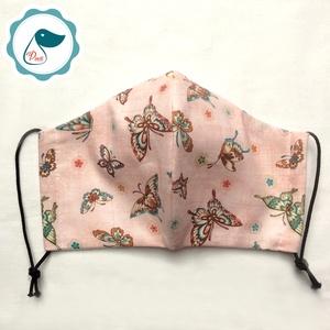 Egyedi pillango mintás - kiskamasz arcmaszk - textil maszk - egészségügyi szájmaszk - mosható szájmaszk (Pindiart) - Meska.hu