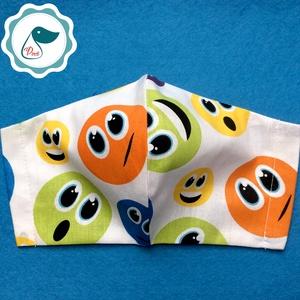 Egyedi smile mintás - kiskamasz szájmaszk - textil szájmaszk - egészségügyi szájmaszk - mosható szájmaszk (Pindiart) - Meska.hu