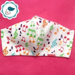 Egyedi hangjegy maszk - felnőtt női és teenager szájmaszk - textil szájmaszk - egészségügyi szájmaszk (Pindiart) - Meska.hu