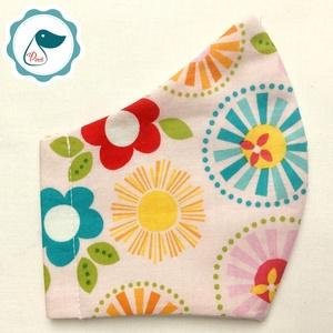 Egyedi virág mintás - kiskamasz szájmaszk - textil szájmaszk - egészségügyi szájmaszk - mosható szájmaszk (Pindiart) - Meska.hu